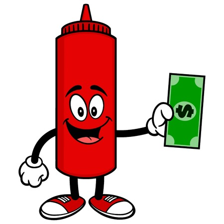 catsup bottle: Ketchup with a Dollar