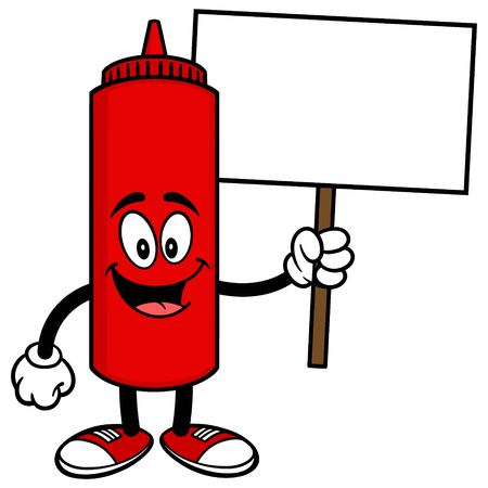 condiments: Ketchup with a Sign