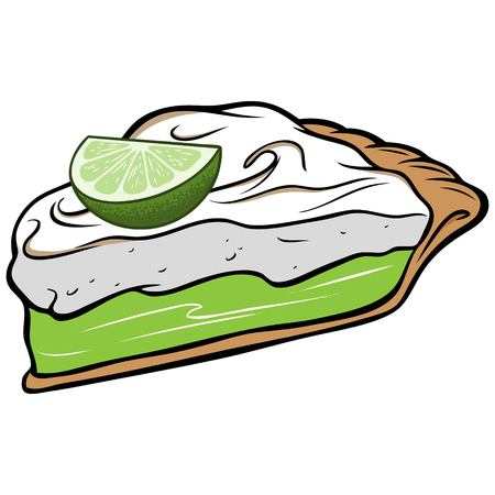 Key Lime Pie Stock Illustratie