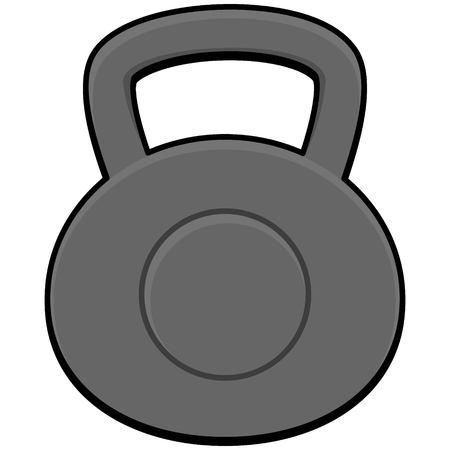 cast iron: Kettlebell Illustration
