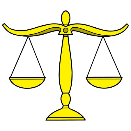legal scales: Legal Scales Illustration
