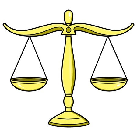 courthouse: Legal Scales of Justice