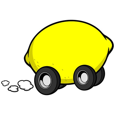 breaking off: Lemon Car Illustration