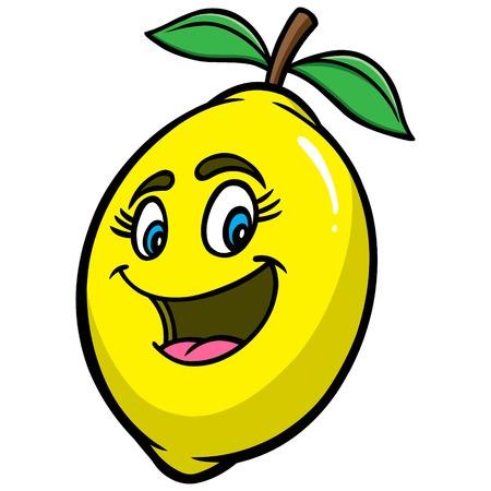limon caricatura: historieta de limón Vectores