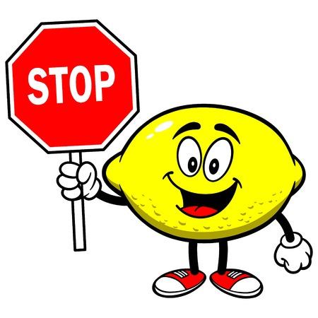 一時停止の標識とレモン