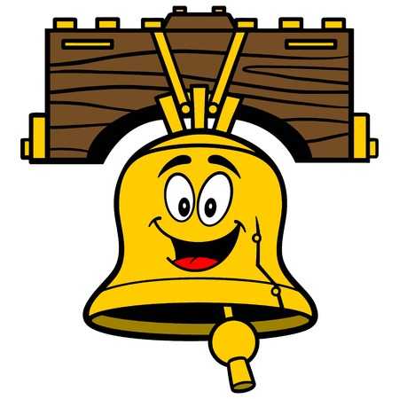 Liberty Bell Cartoon Stock fotó - 57677975