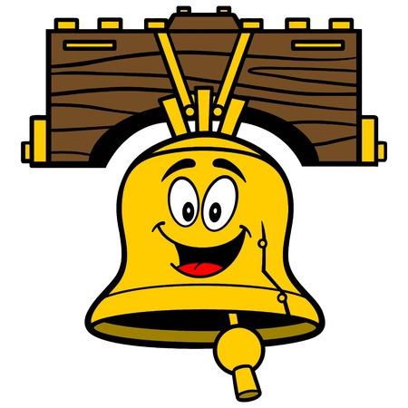 Liberty Bell-Karikatur Standard-Bild - 57677975