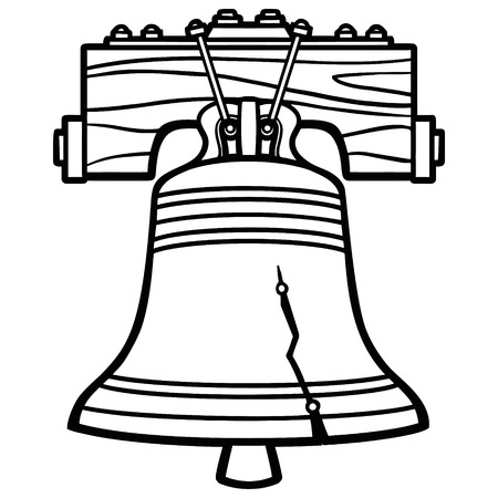 Liberty Bell Illustration 版權商用圖片 - 57677976