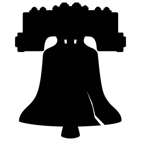 Campana de la Libertad de la silueta