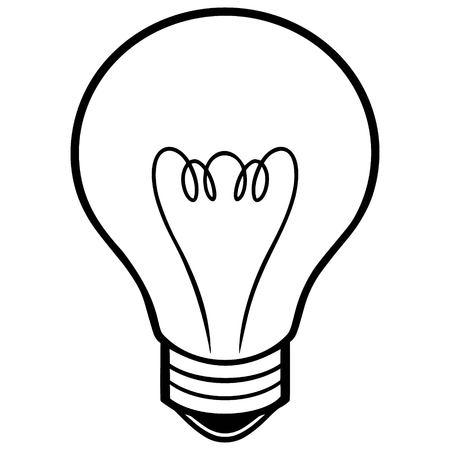 fluorescent lights: Light Bulb Illustration
