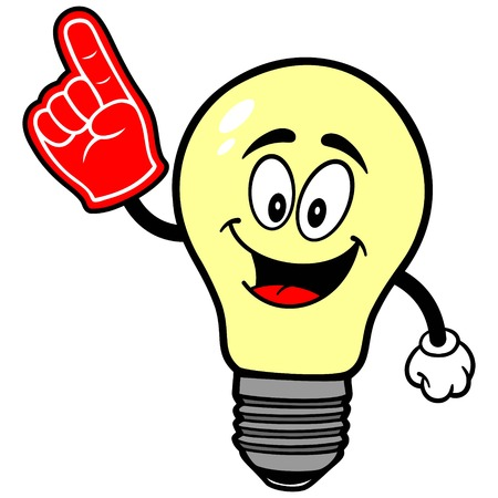 foam: Light Bulb with Foam Finger