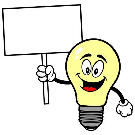 luminance: Light Bulb with Sign