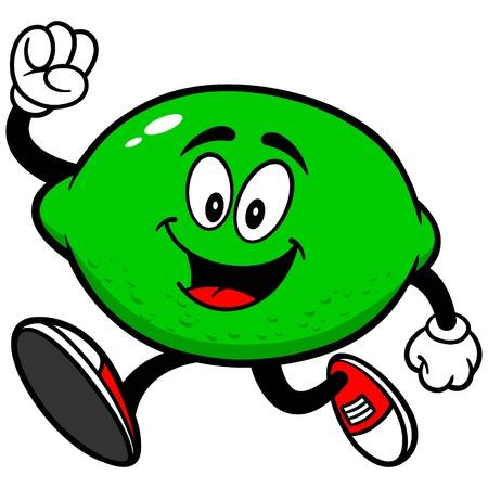running: Lime Running Illustration