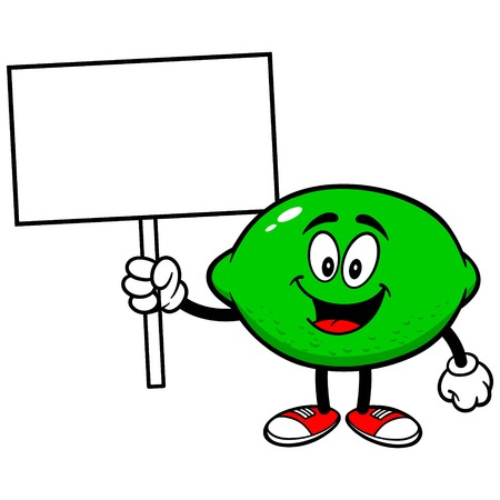 Lime with Sign