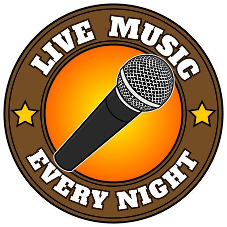 cardioid: Música en vivo todas las noches Vectores