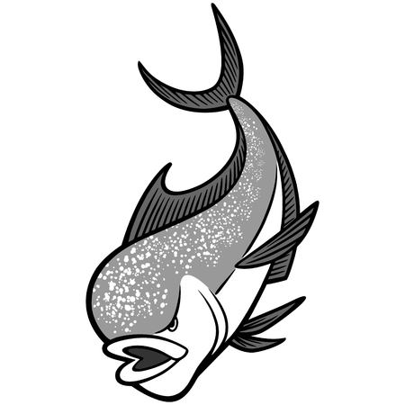 Mahi Mahi Mascot illustration