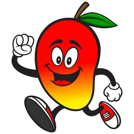 running: Mango Running Illustration