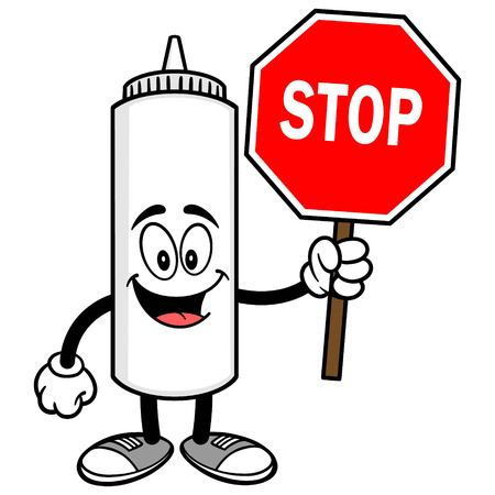 Mayonnaise with a Stop Sign