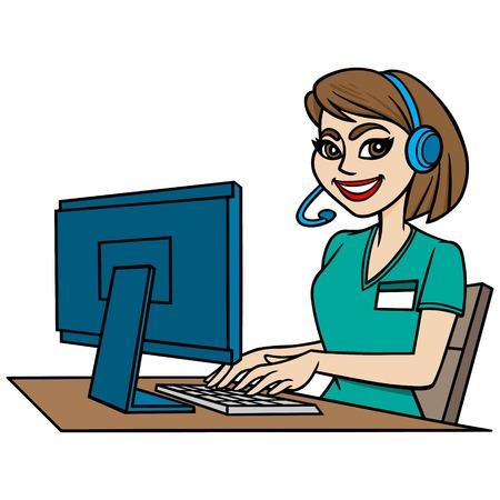 switchboard operator: Medical Transcriptionist