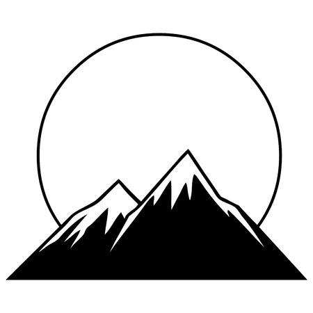 山のグラフィック