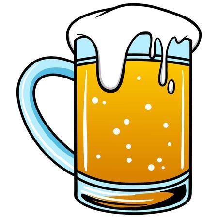 condensation: Mug of Beer Illustration