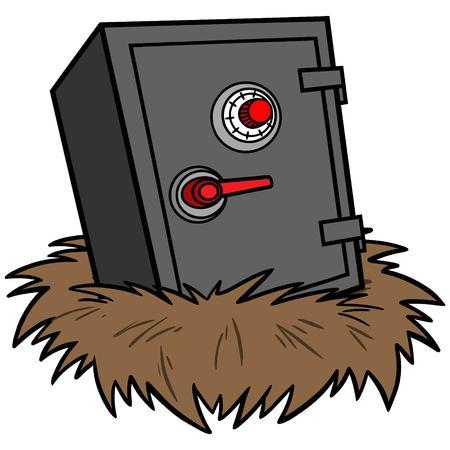 secret code: Nest Egg Security Illustration