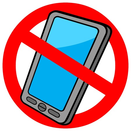 exclusion: No Cellphone Sign Illustration