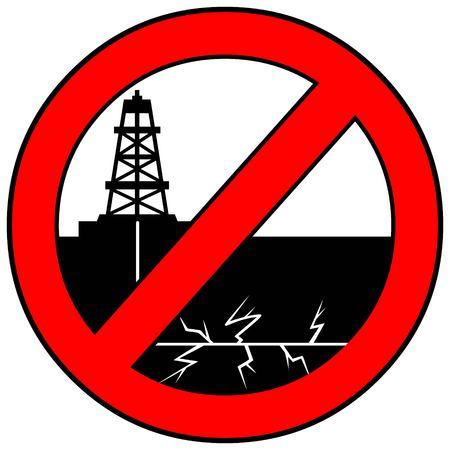 No Fracking  イラスト・ベクター素材