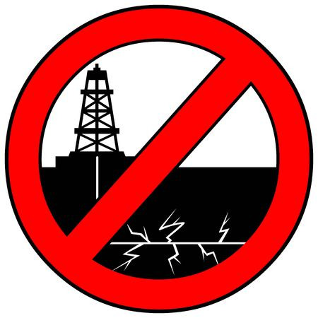 gusher: No Fracking Illustration