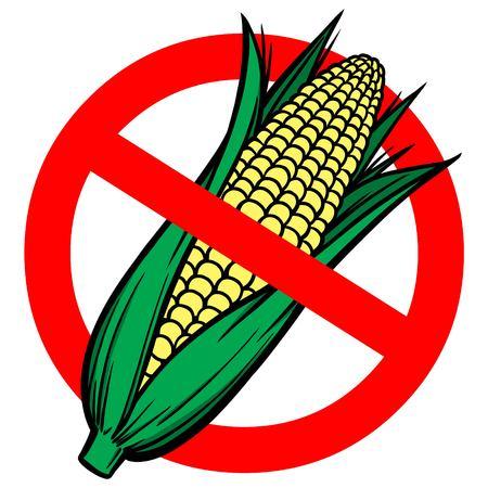 No High Fructose Corn Syrup Illustration