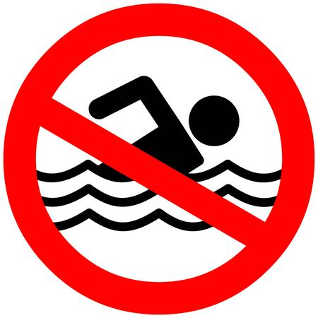 no swimming: No Swimming Illustration