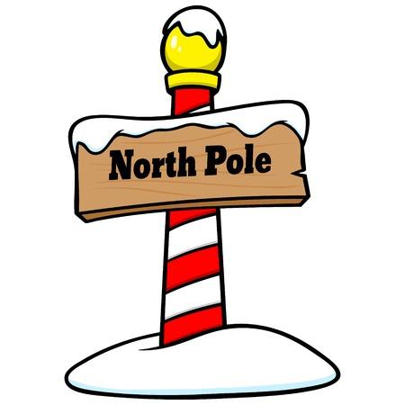 North Pole Sign Иллюстрация