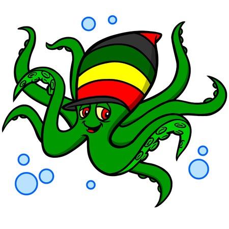 Octopus Rasta Ilustração