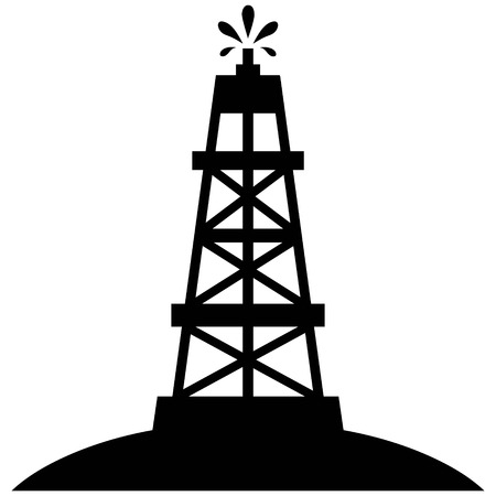drilling well: Oil Rig Gusher