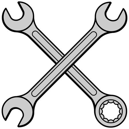 wrenches: Open Ended Wrenches Illustration