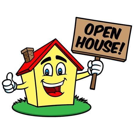 open house: Open House Cartoon Illustration