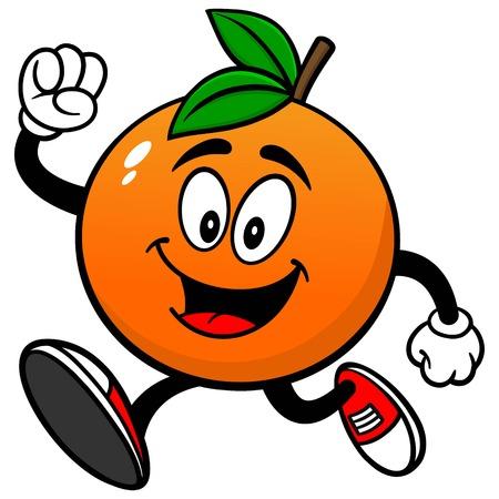 Correr naranja Ilustración de vector