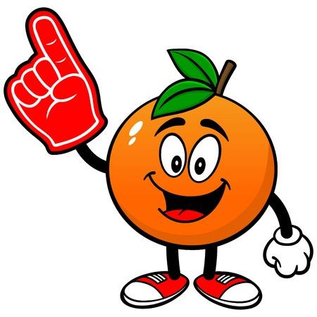 Orange with Foam Finger Çizim