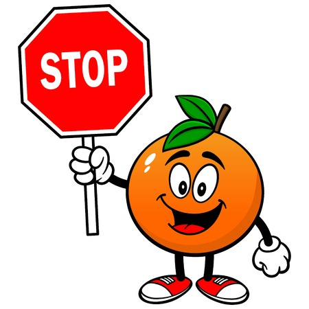 Orange with Stop Sign