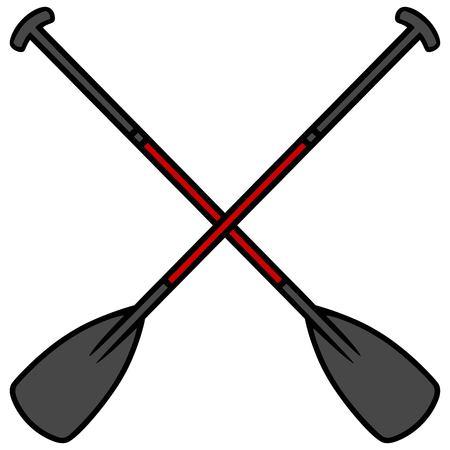 oars: Paddle Board Oars Illustration