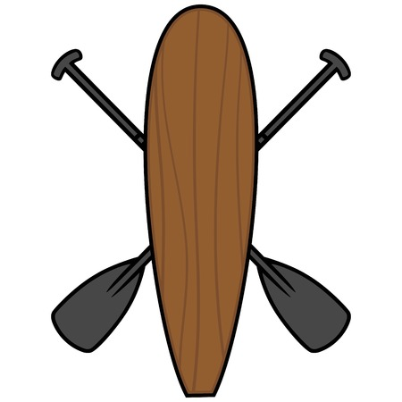 Paddle Board and Oars