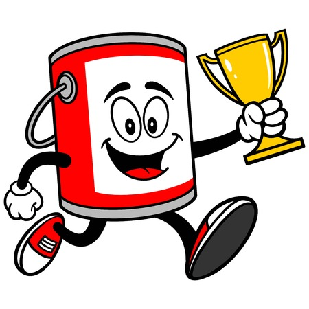 paint bucket: Paint Bucket with a Trophy