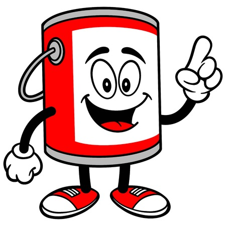 paint container: Paint Bucket Talking Illustration
