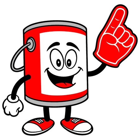 paint container: Paint Bucket with a Foam Finger