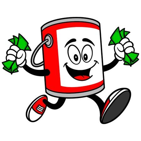 paint bucket: Paint Bucket Running with Money