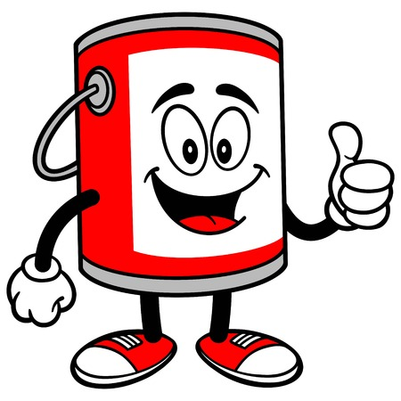 paint bucket: Paint Bucket with Thumbs Up