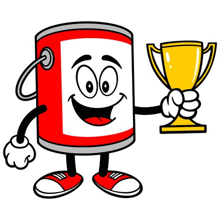paint container: Paint Bucket with a Trophy