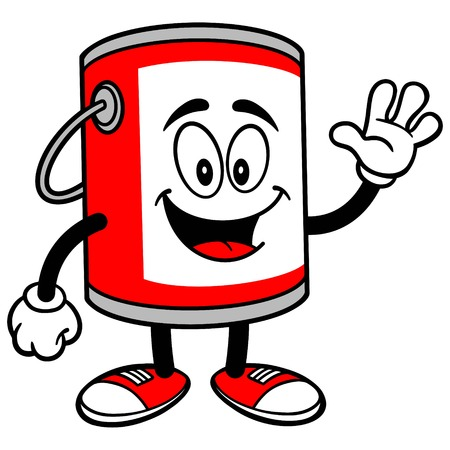 paint container: Paint Bucket Waving