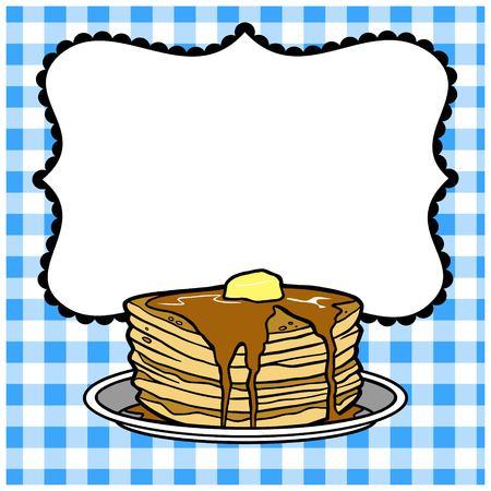 Pancake Party Invitation Banco de Imagens - 57769937