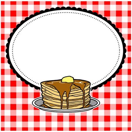 Pancake Party Invite Ilustração